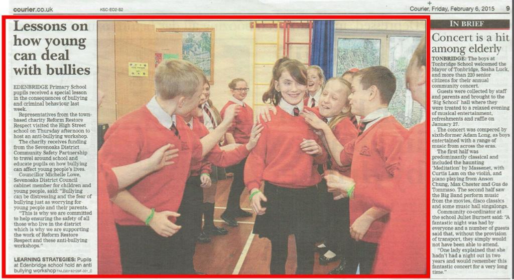 anti-bullying workshop in edenbridge primary